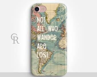 Wanderlust iPhone 7 Case For iPhone 8 iPhone 8 Plus - iPhone X - iPhone 7 Plus - iPhone 6 - iPhone 6S - iPhone SE - Samsung S8 - iPhone 5