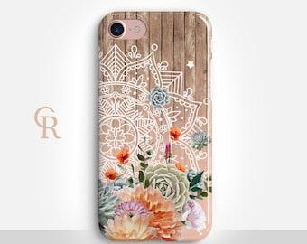 Mandala Phone Case For iPhone 8 iPhone 8 Plus - iPhone X - iPhone 7 Plus - iPhone 6 - iPhone 6S - iPhone SE - Samsung S8 - iPhone 5