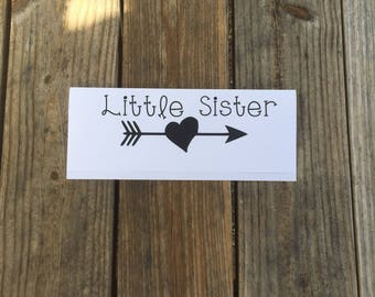 Little Sister Iron-On Vinyl Decal~ Glitter Iron-On Vinyl Decal~ Iron-On Vinyl Decal ~ DIY TODDLER SHIRT