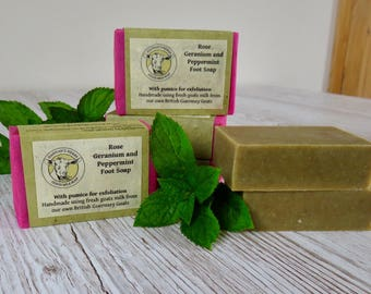 Rose Geranium and Peppermint  Foot Soap