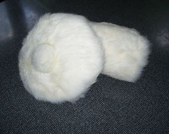 Girl's Fur Beret and Muff  Rabbit Fur Hat and Muff 1950s Vintage