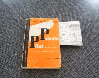 The New Private Pilot; a zweng manual  Pb 7th ed 1967 Vintage