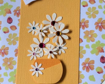 Bright Yellow Bowl of Bloom card
