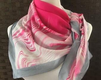 Beautiful Vintage Scarf Tie Rack London Cotton Made in Italy, Vintag Scarf, Bold Print Vintage Scarf, Vintage Accessories