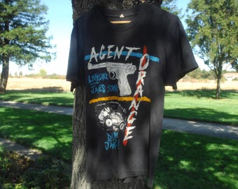 1980s vintage agent orange punk rock band t. rad