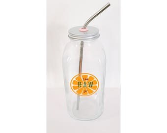 32 oz Glass Specialty Jar  - Made to store your juice and smoothie creations!