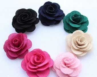 """Fabric Flowers, 1.57""""(40mm) Flowers for Men Lapel DIY, Flowers for headbands craft FZ0171(Pack of 20pcs)"""