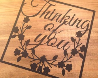 Thinking Of You  Paper Cutting Template - Commercial Use