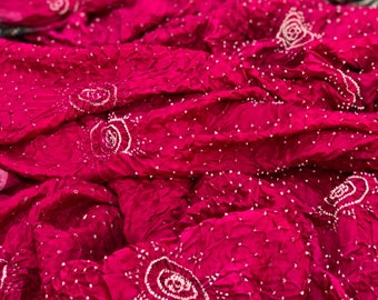Bandhani & Ajrakh on Gajji Silk