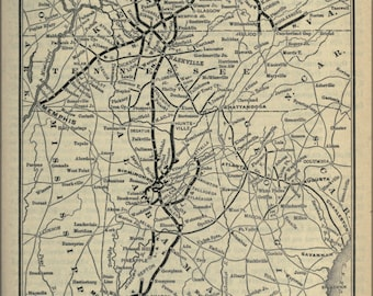 Poster, Many Sizes Available; 1893 Poor'S Louisville And Nashville Railroad