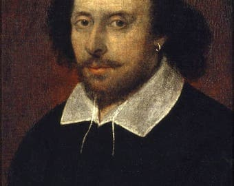 Poster, Many Sizes Available; William Shakespeare Chandos Portrait