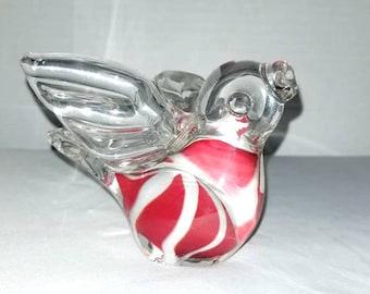 Hand Blown Glass Bird,Bird Figurine,Glass Bird Paperweight,Art Glass,Bird Shelf Sitter,Hand Blown Glass,Bird Paperweight,Bird,Swirled Glass