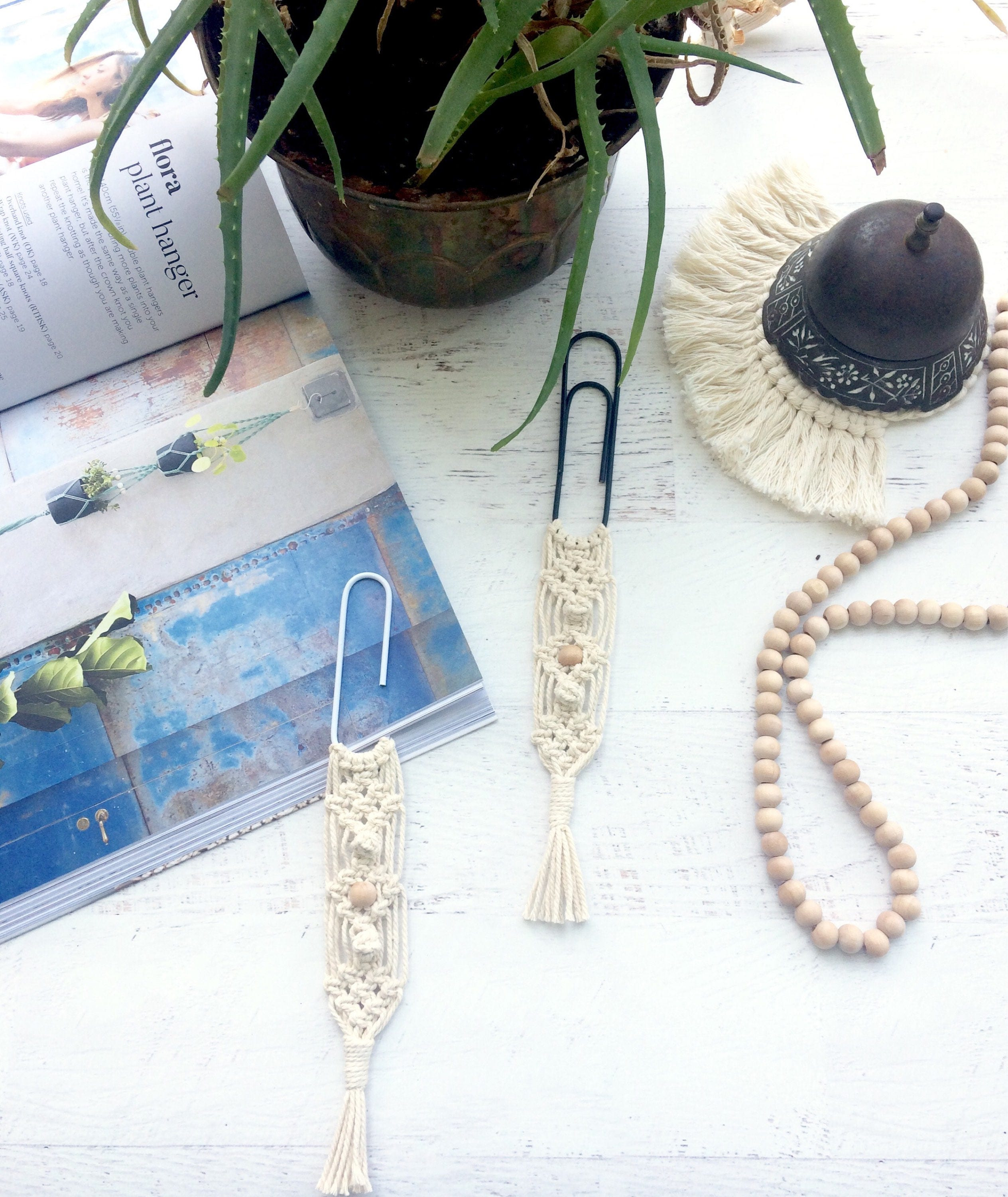 Bookmark, macramé, wedding favors, school supplies, back to school ...