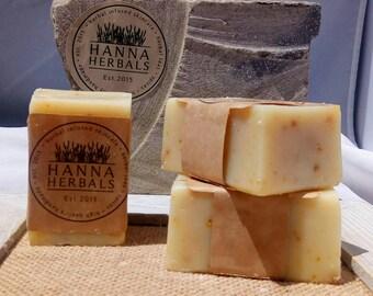 Lemon Soap - 4 ounce soap - lemon kitchen soap - exfoliating soap