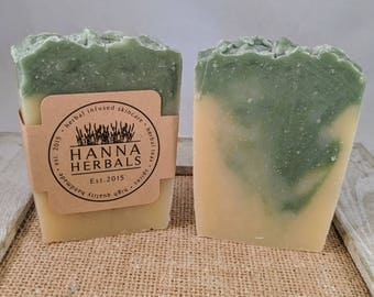 Irish Luck Soap - Fresh Clean Scent - Tall skinny soap - 4 to 5 ounce bars - Hanna Herbals