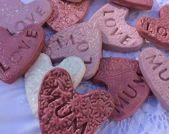Scented Ceramic Hearts
