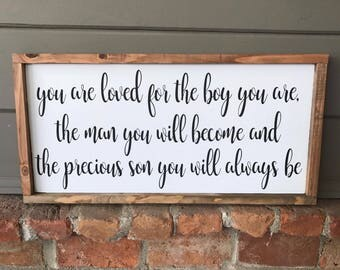 baby boy bedroom decor. Boy Nursery Wood Sign  You Are Loved Decor Wooden nursery decor Etsy