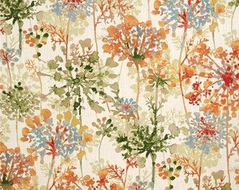 Orange Floral Valance / Custom Boutique Window treatment Curtain / Bathroom, Bedroom, Living room, Sun room