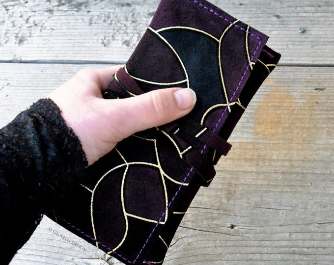 Suede Leather Tobacco Pouch, Ultra Violet Tobacco bag