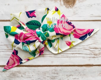 SECRET GARDEN Gorgeous Wrap- headwrap; fabric head wrap; floral head wrap; boho; newborn headband; baby headband; toddler bow