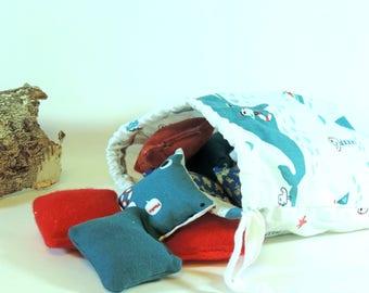 14 sensory Montessori baby whale cushions