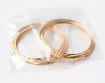 2622_Gold jewelry wire 20 gauge, Gold plated wire 0.8 mm, Half hard wire for jewelry making, Golden craft wire, Gold wire, Brass wire_2 m.