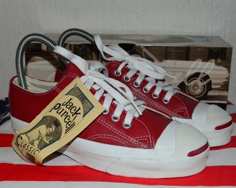 converse jack purcell vintage rare leather deadstock og made in USA 3.5 nwb