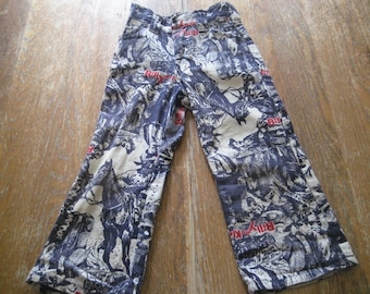 Vintage Billy The Kid Children's Jeans - Cowboy Outlaw Billy The Kid Scenes On The Pants - Awesome Condition!