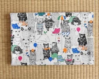 cotton japanese animal polar bear fabric 1/2 yard