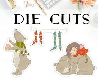 Christmas Bear Die Cuts D003
