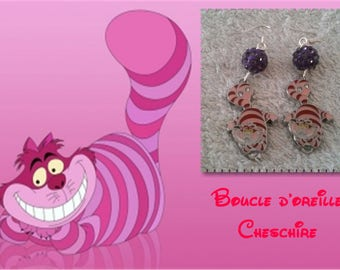 Cheshire Alice earring