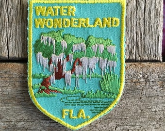 Water Wonderland Florida Vintage Souvenir Travel Patch from Voyager - LAST ONE!