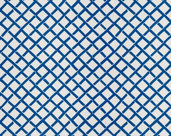 DESIGNER FRETWORK PRINT Cotton  Fabric 10 Yards Blue