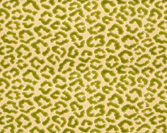 BRUNSCHWIG & FILS PANTHERE Panther Velvet Fabric 10 Yards Green