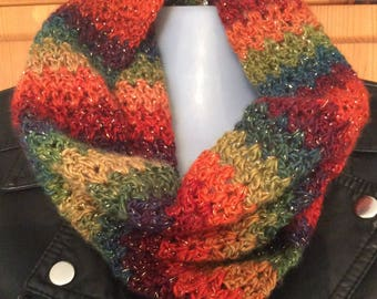Crochet Cowl, infinity, Snood Scarf