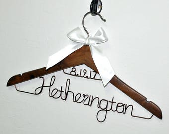 Wedding hanger,bride hanger,Mrs hanger, Bridal Shower Gift, Personalized Bride Hanger, Personalized Custom Wedding Hanger, dress hanger,
