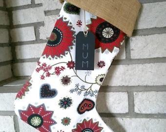 Christmas Stocking, luxury Christmas stocking, Classic Christmas stocking,Big Christmas Stocking, personalised Christmas Stocking