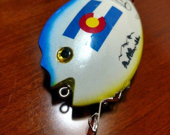 Handmade Wooden Fishing Lure / Colorado themed Surface lure