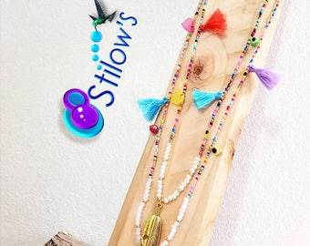 Multicolors long necklace