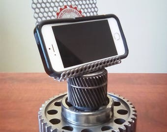 industrial iphone stand industrial tablet stand steampunk iphone stand