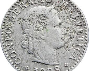 1903 20 Rappen Switzerland Coin