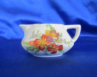 Vintage Crown Ducal Ware Cream Jug, Hand Painted and Transfer