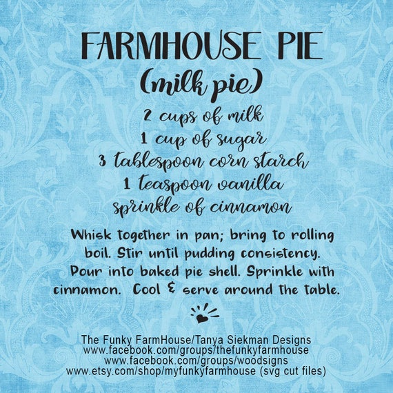 "SVG, & PNG - ""FarmHouse Pie"""