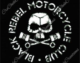 Black Rebel Motorcycle Club Graphgan 400X450***PATTERN ONLY***PDF File***Crochet Tunisian
