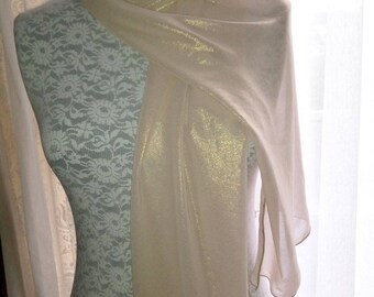 Stole (flesh) Golden nude color polyester chiffon.