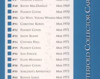 MATURE - Playboy Trading Card March Edt. 1993 - Checklist - Card #Checklist 2