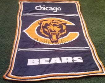 Custom made Chicago Bears afghan!