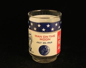Vintage Apollo 11 NASA Juice Glass Tumbler Space Travel Astronaut Collectible Gift