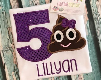 Poop emoji  birthday shirt