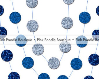 20' Glitter CONFETTI GARLAND -- Pastel Blue